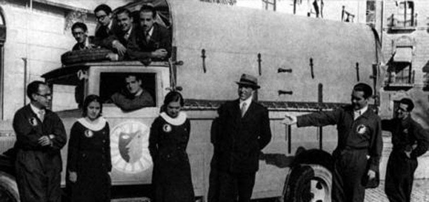 La Barraca de García Lorca regresa hoy, 73 años después, a Ayerbe, protagonizada por nuestros actores europeos